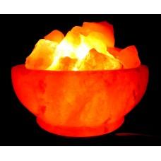 """Соляная лампа """"Ваза с камнями"""""""