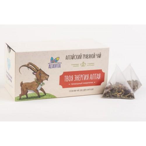 """""""Твоя энергия Алтая""""  травяной чай в пирамидках, (40 г)"""