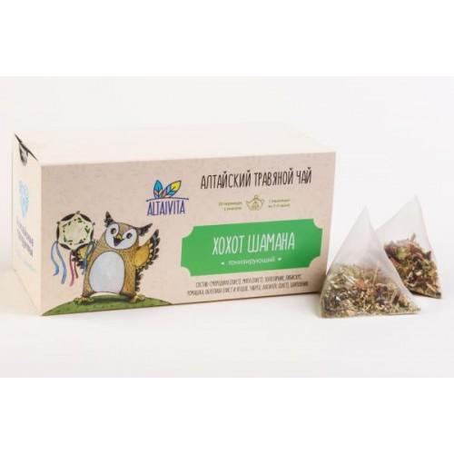 """Хохот Шамана""  травяной чай в пирамидках, (40 г)"