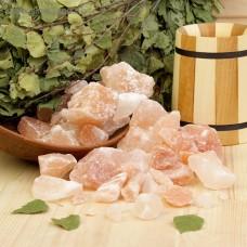 Соляные камни для бани и сауны ,ванны  вес упаковки 2,5кг