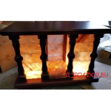 Камин-светильник с гималайской розовой солью